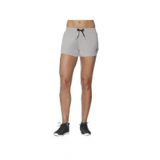 Asics Knit Short női rövidnadrág, Heather Grey, XXL (141137-0714-XS)