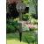 Globál Napelemes solar Inox Színes kerti lámpa gömb