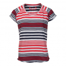 Fundango Elder Stripe T-shirt,top D (2TQ112_288-carmine)