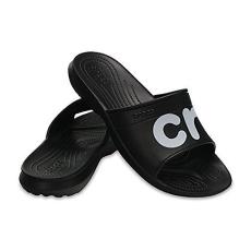 CROCS CLASSIC GRAPHIC SLIDE black/white Unisex papucs
