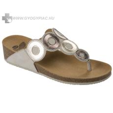 Scholl Arlene törtfehér bioprint női lábujjközi papucs - kényelmi modell 37-39