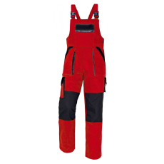 Cerva MAX kertésznadrág piros/fekete 62