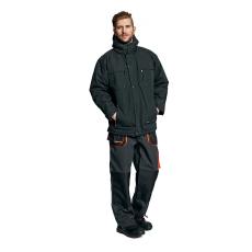AUST EMERTON téli kabát fekete/narancs M