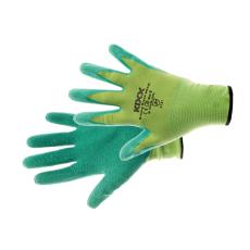 Kixx GROOVY GREEN kesztyű nylon, latex zöld - 9