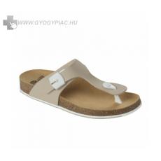 Scholl /Eredeti!/ Scholl Spikey bézs-fehér női lábujjközi papucs bioprint technológiával 37-39