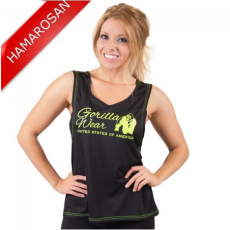 ODESSA CROSS BACK TANK TOP - BLACK/NEON LIME (BLACK/NEON LIME) [XS]