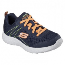 Skechers Burst-Second Wind gyerek sportcipő, Blue/Orange, 30 (97300L-NVOR-30)