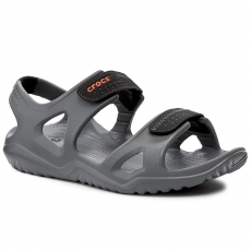 CROCS Szandál CROCS - Swiftwater River Sandal M 203965 Charcoal/Black