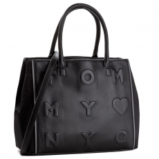 Tommy Hilfiger Táska TOMMY HILFIGER - Logo Story Small Tote AW0AW03829 002
