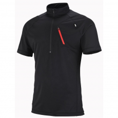 Millet Red Needles Zip SS Sport póló,felső D (MIV5988-q_0247-Black - Noir)