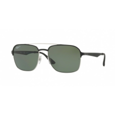 Ray-Ban RB3570 90049A SILVER TOP SHINY BLACK DARK GREEN POLAR napszemüveg
