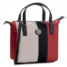 Tommy Hilfiger Táska TOMMY HILFIGER - Poppy Small Tote Vertical Stripe AW0AW04039 904
