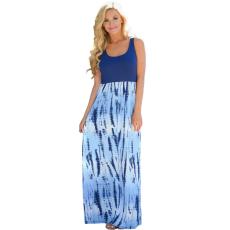 Kék hosszú boho ruha