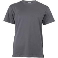 KEYA unisex pamut póló, faszénszürke (Keya unisex környakas pamut póló, 180g/m2, 100% gyűrü fonásu)