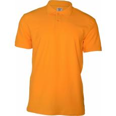 KEYA galléros piké póló, aranysárga (Keya férfi galléros piké póló, 100% pamut piké anyag, 180g/m2.)
