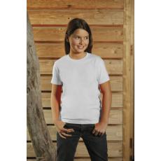 KEYA gyerek környakas pamut póló, fehér (Keya gyerek környakas pamut póló, 150g/m2, 100% gyűrü fonásu)