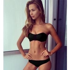 Fekete neoprene bikini-Large