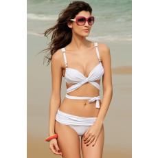 Fehér Push Up pántos Bikini-Large
