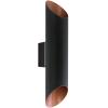 EGLO Kültéri fali lámpa LED-es 2X3,7W IP44 fekete/réz - Agolada EGLO