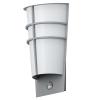 EGLO Kültéri fali lámpa LED-es 2X2,5W szenzoros IP44 ezüst - Breganzo1 EGLO