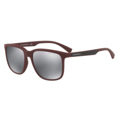 Emporio Armani EA4104 56066G BORDEAUX RUBBER LIGHT GREY MIRROR BLACK napszemüveg