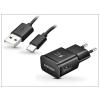 Samsung Samsung gyári USB hálózati töltő adapter + USB Type-C adatkábel - 5V/2A - EP-TA20EBE + EP-DG950CBE Type-C black (ECO csomaglás)