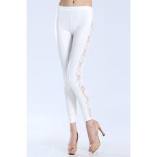 Sexy Fehér Csipkés Leggings