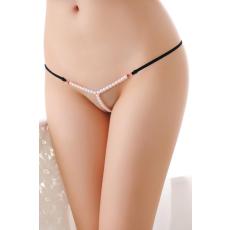 Fekete Gyöngyös Sexy Randi Tanga