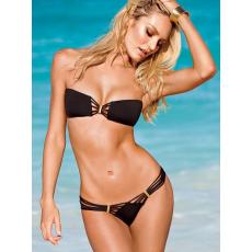 Csakcsajok Fekete Pántnélküli Bikini-Small