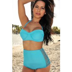 Kék Magasderekú Bikini-Large