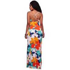 Csakcsajok Multi-color virág mintás maxi ruha