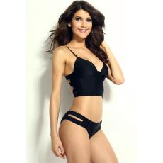 Fekete Pántos Bikini-Medium