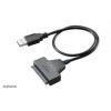 """Akasa Akasa USB3.0 kábel 2,5"""" SATA SSD ÉS HDD adapter - 40cm - AK-AU3-03BK"""