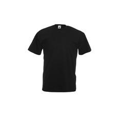 póló fekete kereknyakú 100% pamut (XL)