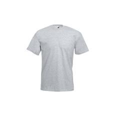 póló szürke kereknyakú 100% pamut (L)