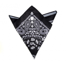 Krawat Díszzsebkendõ - Fekete-fehér mintás