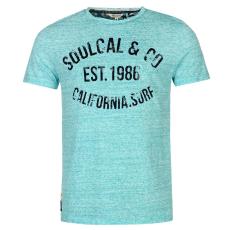 Soul Cal Póló SoulCal AOP Flock fér.
