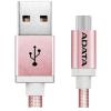 ADATA Sync and Charge USB 2.0 A - USB 2.0 micro B adatkábel 1m rózsaszín-arany