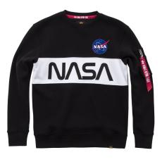 Alpha Indsutries NASA Inlay Sweater - fekete