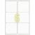 ETIKETT CÍMKE UNIVERZÁLIS 99,1X93,1 MM KEREKÍTETT SARKÚ 6 DB/ÍV, 600 DB/CSOMAG