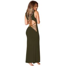 Oliva zöld maxi ruha