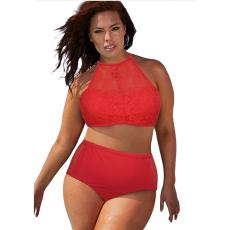 Csakcsajok Piros hálós plus size bikini