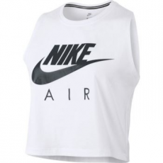 Nike Crop Air női trikó, White/Dark Rasin, XL (865894-101-XL)