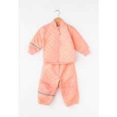 CeLaVi Kids Peach Quilted Jacket&Pants Set (3555-594-PEACH-92)