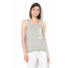 Only Excuse Melange Világosszürke Top XS (15137342-LIGHT-GREY-MELANGE-XS)