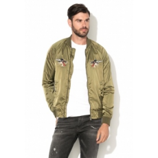 Jack Jones Jack&Jones Dragon Olivazöld Bomber Kabát Hímzésekkel XL (12122626-OLIVE-NIGHT-XL)