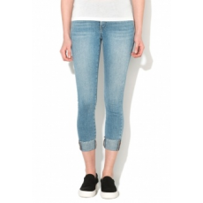 Only Carmen Szűk Fazonú Kék Crop Farmernadrág W26-L32 (15129223-LIGHT-BLUE-DENIM-W26-L32)