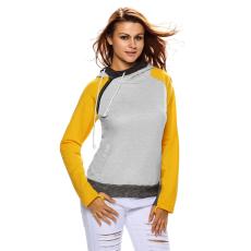 Csakcsajok Sárga-szürke színű dupla kapucnis pulóver