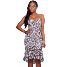 Fekete-fehér sellőpikkely hatású ruha