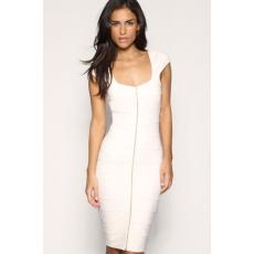 Fehér cipzáros elegáns ruha